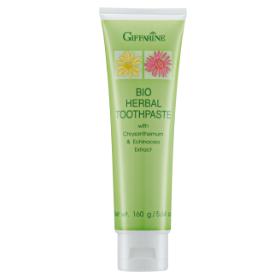 Bio herbal toothpaste with chrysanthemum Echinacea extract& stay-c 50 ยาสีฟันสมุนไพรผสมสารสกัดจากดอกเก๊กฮวย อิชินาเซีย และ Stay-C 50 ดูแลเหงือกและฟันให้แข็งแรง ด้วยสารสกัดจากดอกเก๊กฮวยช่วยแก้ร้อนใน อิชินาเซียสมุนไพรมากคุณค่าจากนิวซีแลนด์ สวนผสมของ Stay 50 วิตามินซีบริสุทธิ์ที่มีความคงตัวสูง ช่วยบำรุงเหงือกให้เเข็งแรง ลดการอักเสบของเหงือก ช่วยให้ฟันแข็งแรง พร้อมลมหายใจหอม สะอาด สดชื่น