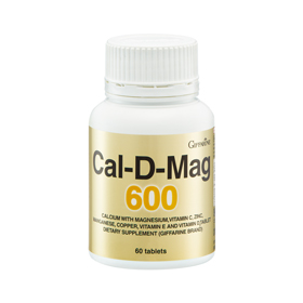 Cal-D-Mag 600 แคล-ดี-แมก 600 กิฟฟารีน แคลเซียมเพิ่มความสูง บำรุงกระดูก สร้างมวลกระดูก ชะลอการเกิดโรคกระดูกพรุน