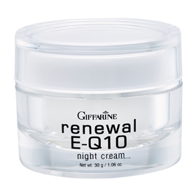 Renewal E-Q10 Night Cream ครีมบำรุงผิวหน้า และรอบดวงตาสำหรับกลางคืน ช่วยลดเลือนริ้วรอยร่องลึก พร้อมกระชับผิวและเรียบเนียน