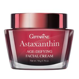 Astaxanthin Age-defying Facial cream ครีมบำรุงผิวหน้าสูตรเข้มข้นพิเศษสำหรับกลางคืน ผสานประสิทธิภาพชั้นเลิศของแอสตาแซนธิน คอลลาเจน และไฮยาลูรอน บำรุงผิวให้ชุ่มชื่น และลดริ้วรอยได้ภายใน 4 -6 สัปดาห์ เพื่อผลลัพธ์ของผิวอ่อนเยาว์ ดึงกระชับเนียนนุ่มยิ่งกว่าเคย