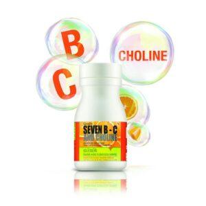 Seven B-C and Choline Giffarine, วิตามินบี 5, วิตามินซี, วิตามินบี 1, วิตามินบี 2, วิตามินบี 3, วิตามินบี 7 ชนิด วิตามินซี และโคลีน,