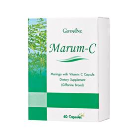 Marum-C Giffarine มะรุม-ซี กิฟฟารีน ใบมะรุมผง ลดความดันโลหิต, ลดระดับน้ำตาล, ลดระดับโคเลสเตอรอล ต้านมะเร็ง เชื้อแบคทีเรีย ต้านการอักเสบ